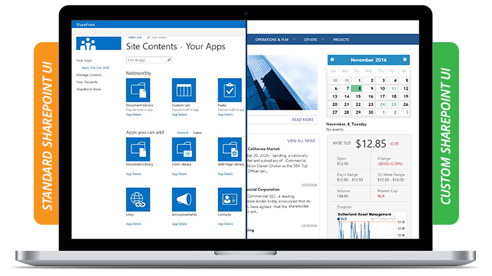 Custom SharePoint UI