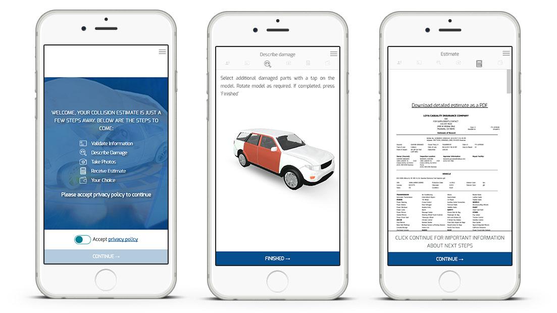3d Model Anlage Web App Fur Kfz Versicherung Anspruchsbewertung